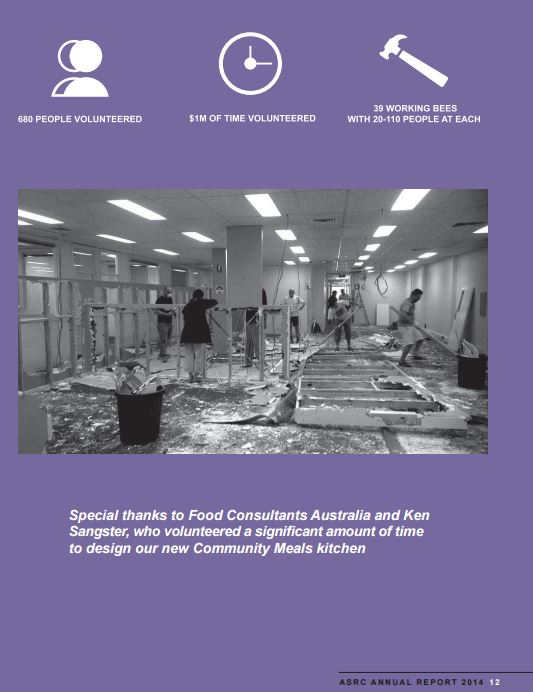 Asylum Seekers Resource Centre - Annual Report 2014 - FCA & SDG reference